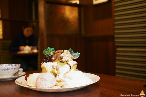 クリスマスパンケーキ 秋葉原フライングスコッツマンで♪12月25日まで ボリュームたっぷり!(東京/末広町)パンケーキマン